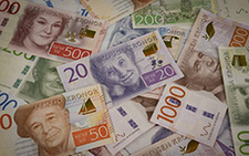 pengar, sedlar i riksbankens valv